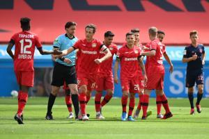 0-1落后踢疯了!拜仁4-2大胜勒沃库森 德甲重启后保持全胜